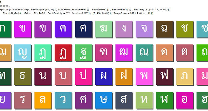Thai fonts by SIPA